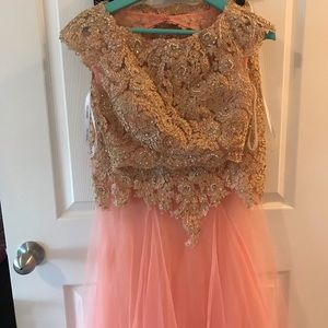 Sherri Hill mermaid skirt two piece crop formal